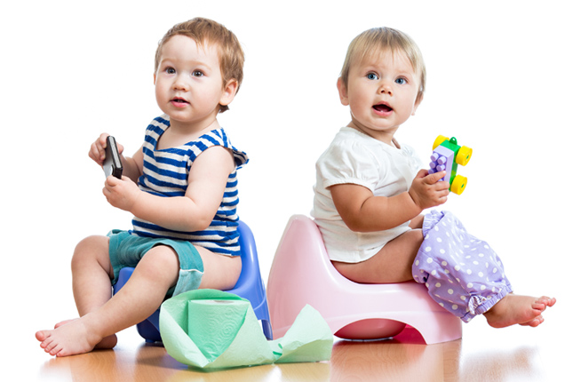 Potty Training Twins: Gear and Logistics
